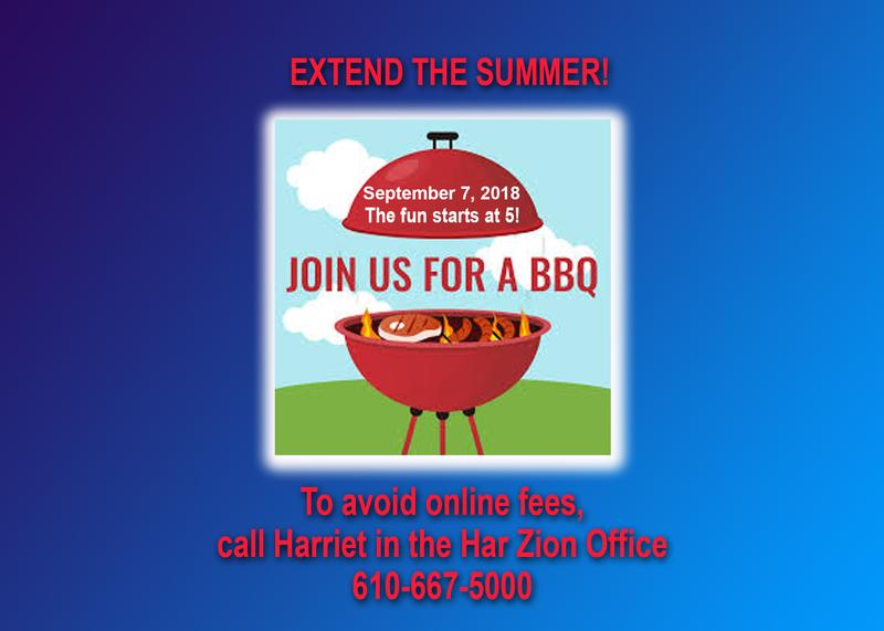"""Extend The Summer"" Shabbat BBQ!"