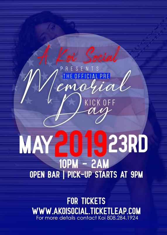 The Official Pre Memorial Day Weekend Kick Off