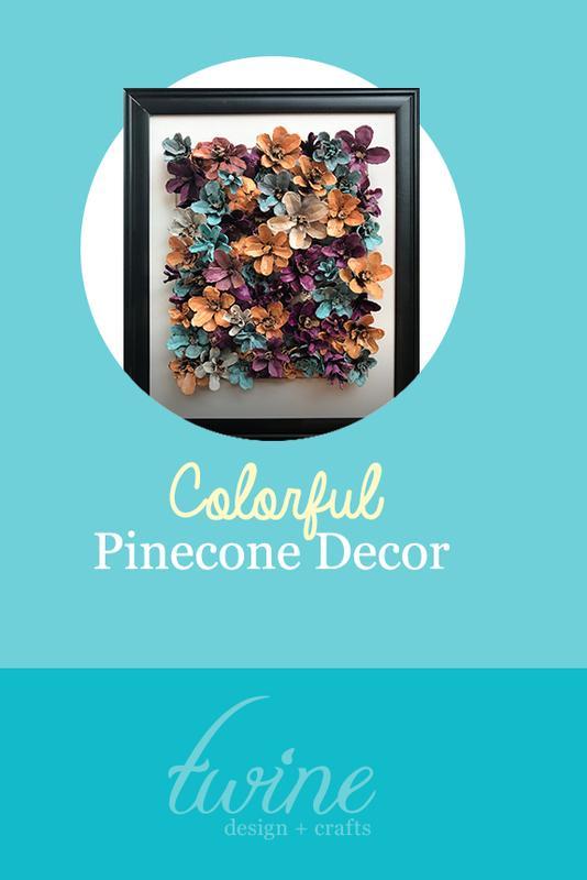 Colorful Pinecone Decor
