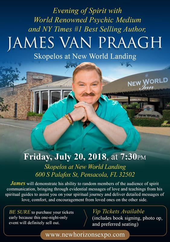 An Evening of Spirit with World Renowned Psychic Medium and NY Times #1 Best Selling Author, James Van Praagh