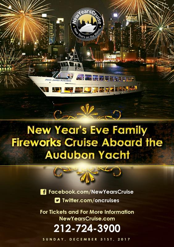 2018 New Year's Eve Family Fireworks Cruise Aboard the Audubon Yacht
