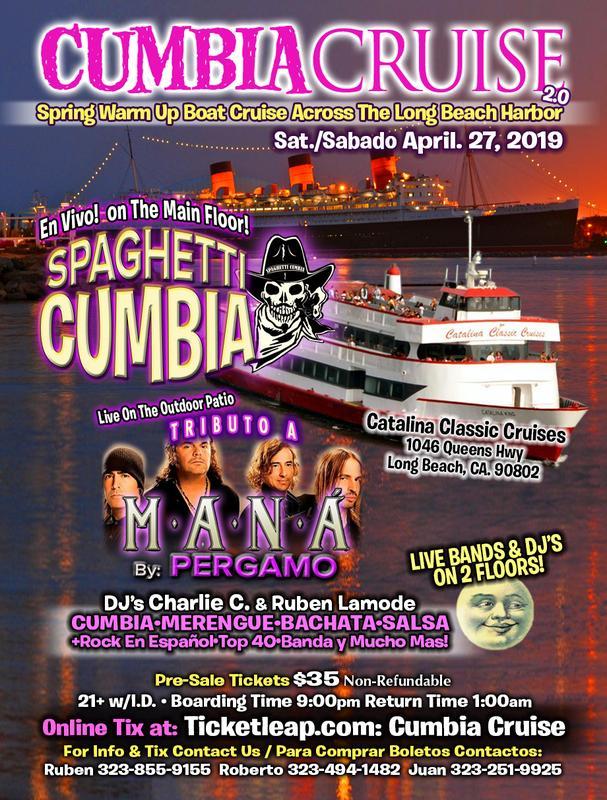 Cumbia Cruise con Spaghetti Cumbia y MANA Tributo by Pergamo