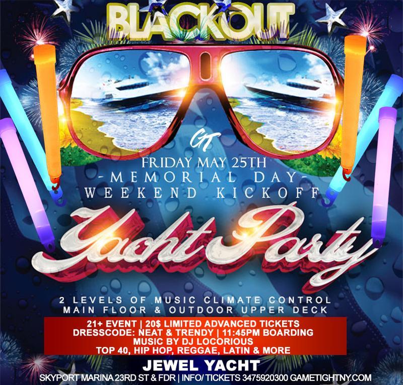 MDW 2018 Jewel Yacht Blackout Party at Skyport Marina