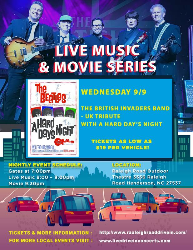 Concert: The British Invaders with the movie A Hard Days Nights