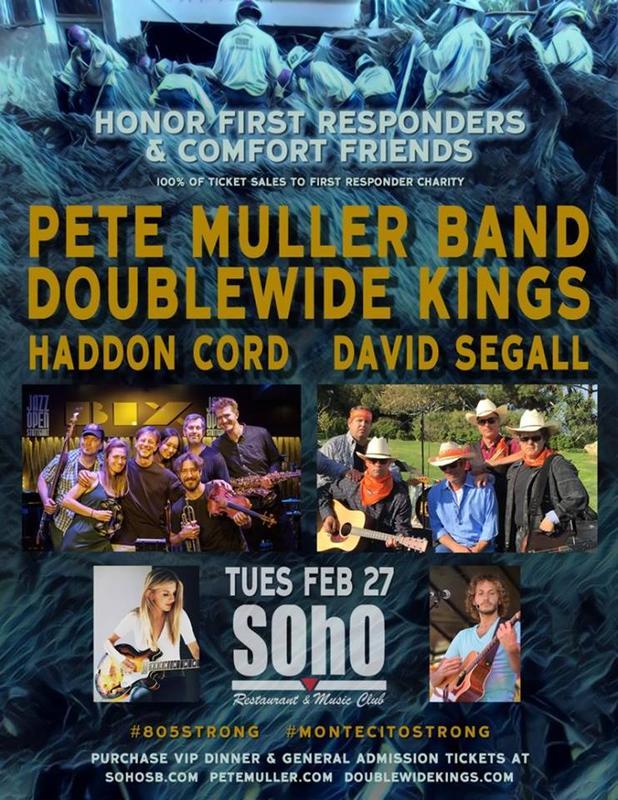 BUCKET BRIGADE BENEFIT | Pete Muller Band | Doublewide Kings | Haddon Cord | David Segall