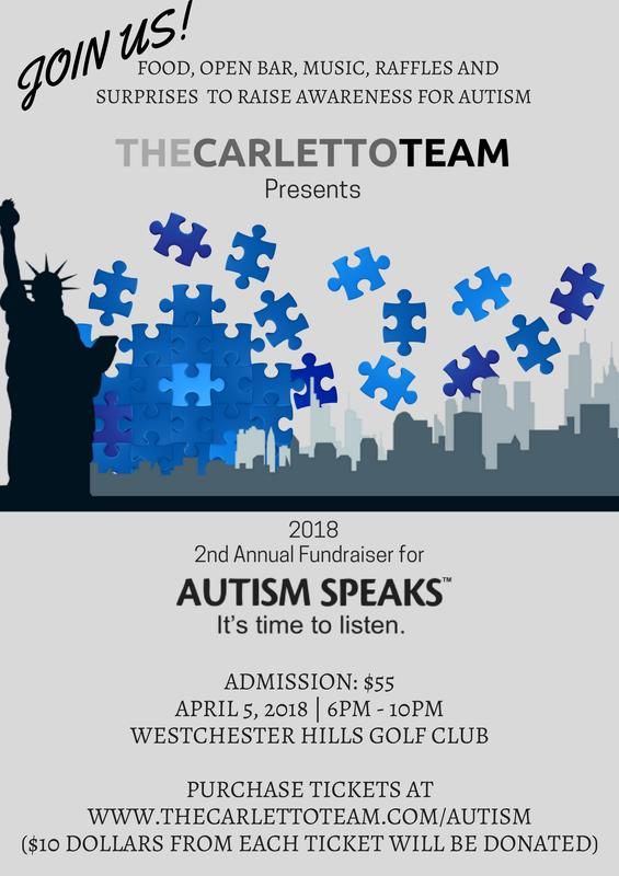 Austism Speaks - Presented by The Carletto Team