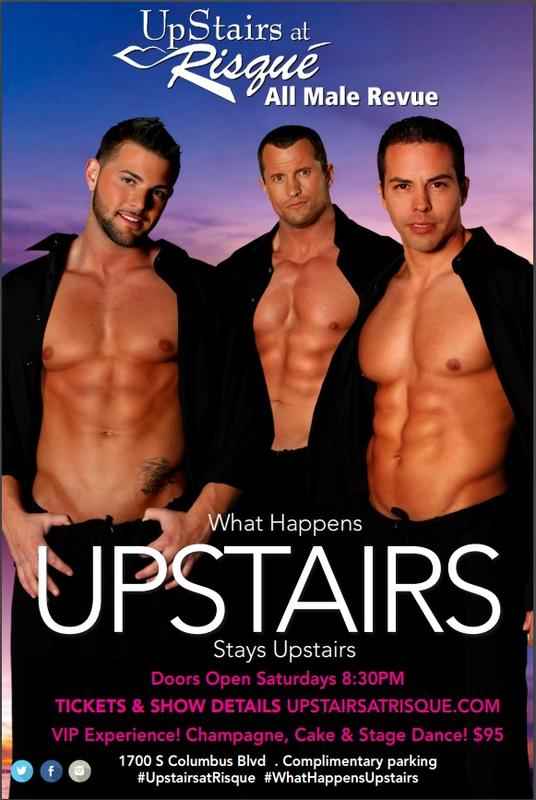 Upstairs At Risque MALE REVUE -Nov 3 2018