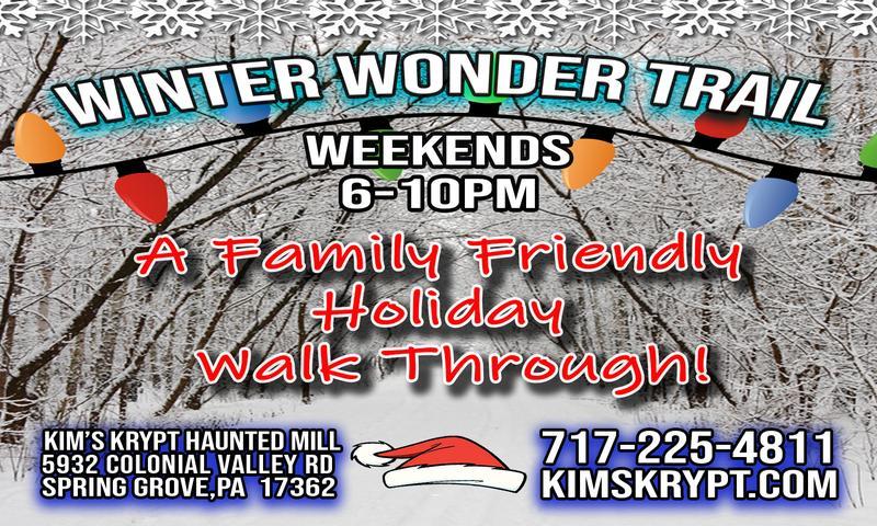 2018 Winter Wonderland Trail - Kim's Krypt Haunted Mill