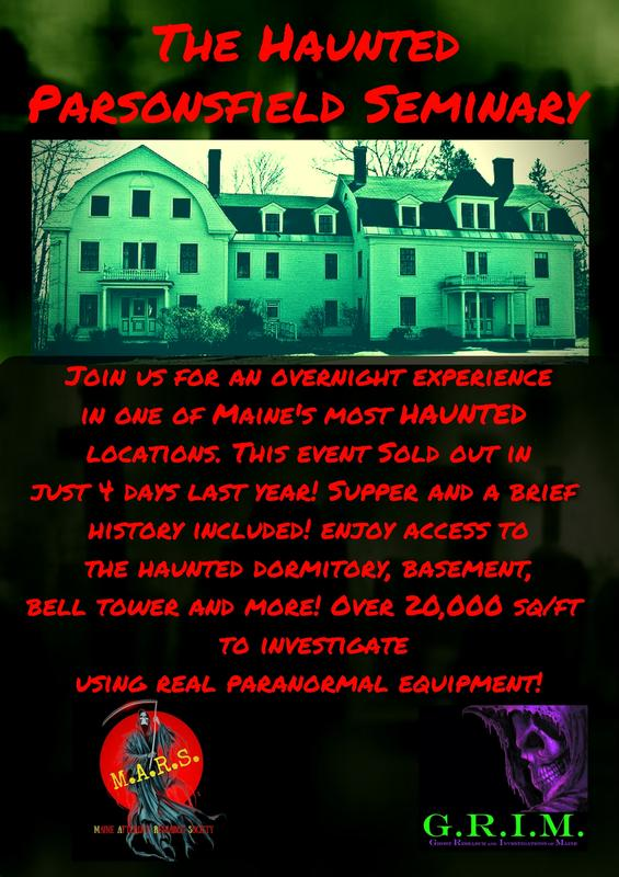 Overnight at the HAUNTED PARSONSFIELD SEMINARY
