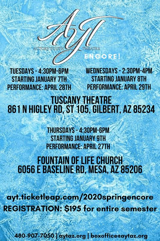 AYT 2020 Spring Encore! Production Class