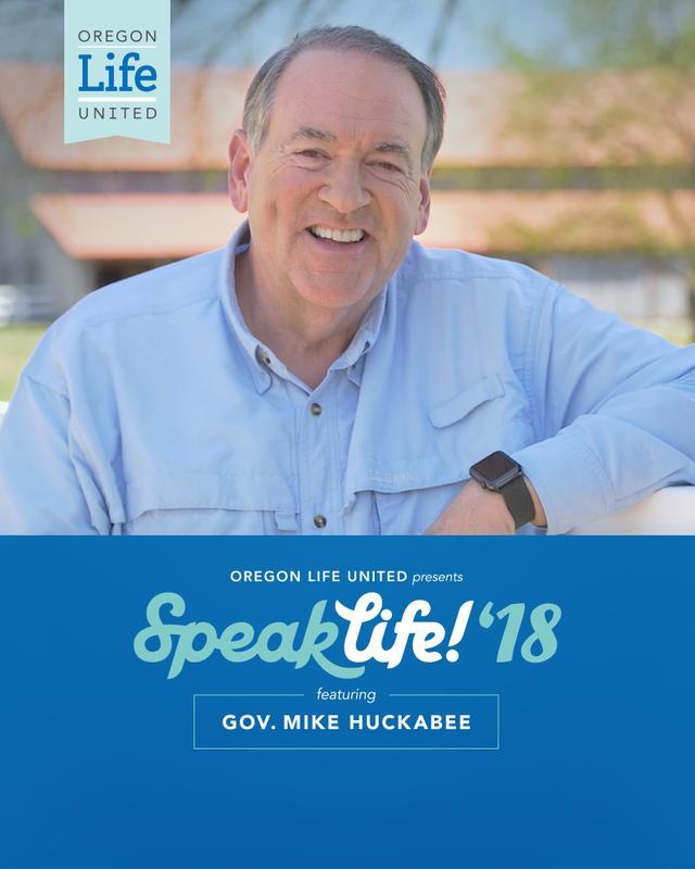Speak Life! Medford – featuring Gov. Mike Huckabee