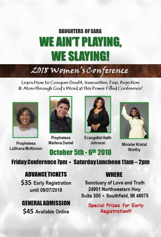 Daughters of Sara 2018 Women's Conference: We Ain't Playing, We Slaying!