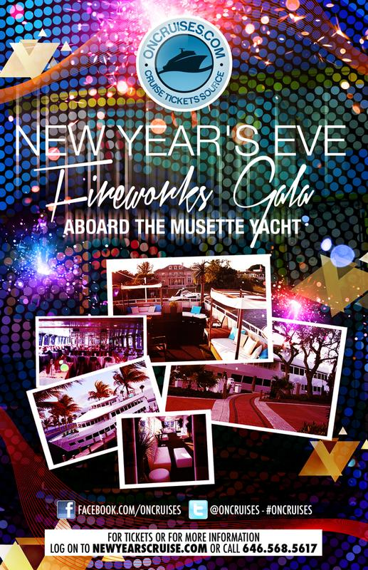 New Year's Eve Fireworks Gala Aboard The Musette Yacht-2015