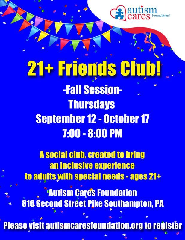 21+ Friends Club - Fall Session