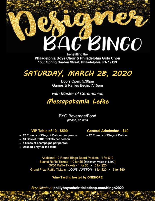 Ladies' Night: Designer Bag Bingo!