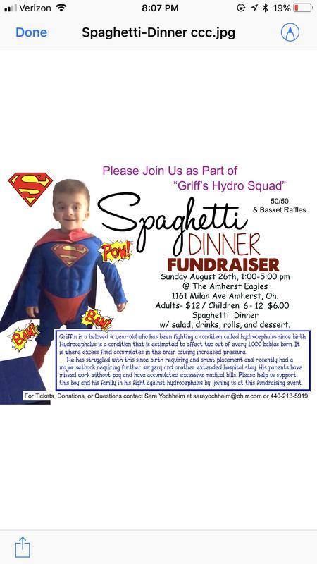 Griff's Hydro Squad spaghetti dinner