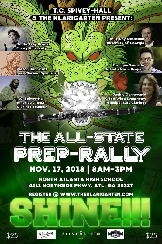 The KLARIGARTEN Presents: The 2018 ALL-STATE Prep-Rally with T.C. Spivey-Hall (Middle School Bass Clarinet Class)