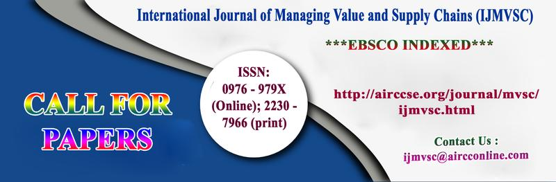 International Journal of Managing Value and Supply Chains (IJMVSC) ***EBSCO***INDEXED