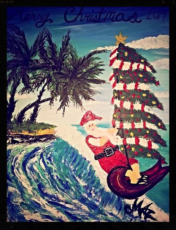Paint Santa Wind Surfing