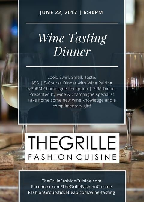 Fashion Group Wine Tasting Dinner