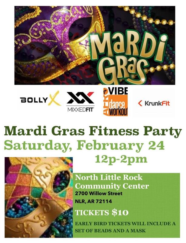 2018 Mardi Gras Fitness Party