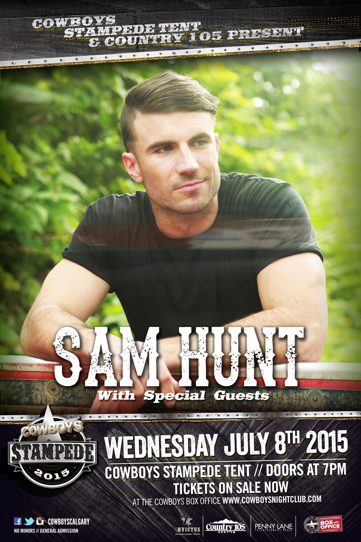 SAM HUNT Cowboys St&ede Tent  sc 1 st  Cowboys Dance Hall Tickets - Ticketleap & SAM HUNT: Cowboys Stampede Tent Tickets in Calgary AB Canada