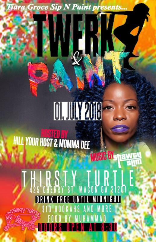 Twerk and Paint at The Thirsty Turtle