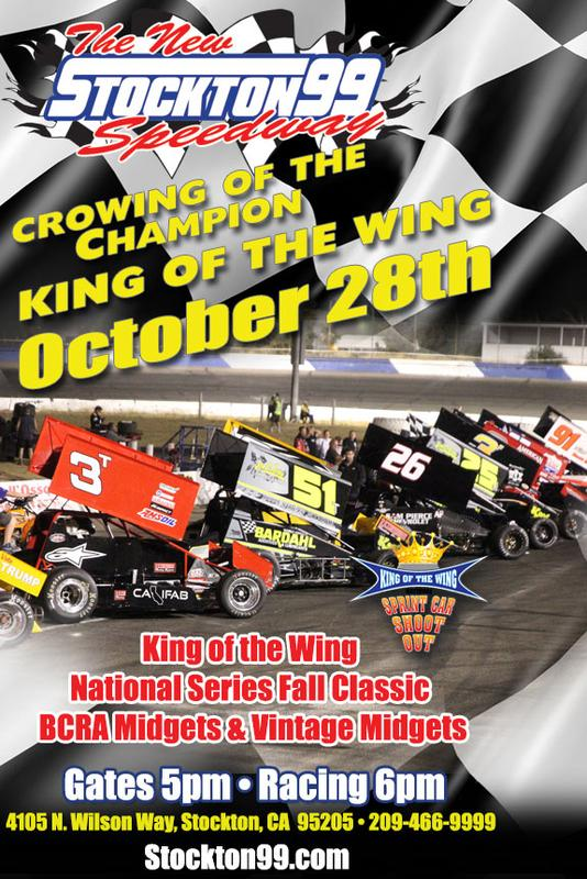 October 28, 2018 - CROWNING OF THE CHAMPIONSHIP - King of the Wing National Series, BCRA Midgets & BCRA Vintage Midgets