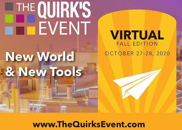 The Quirk's Event Virtual Fall 2020