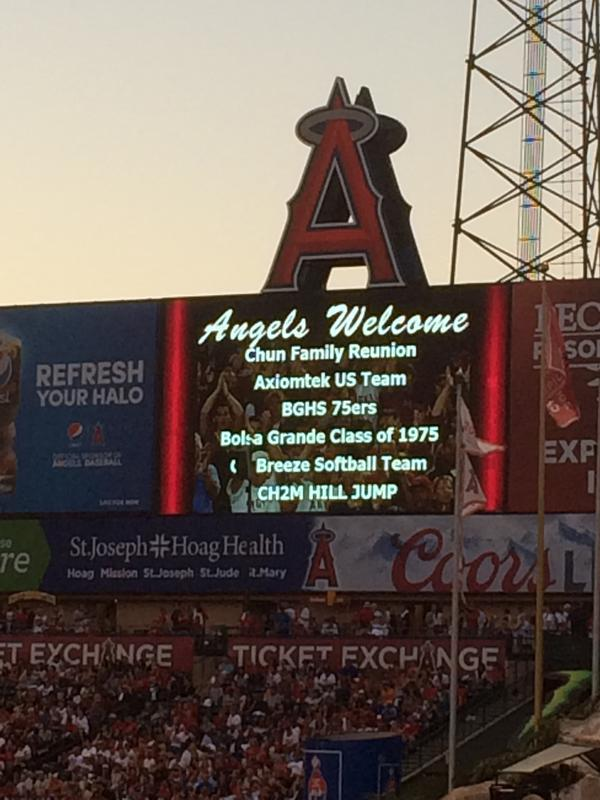 Angel Stadium with Mike Trout and the 75ers.....and the Royals
