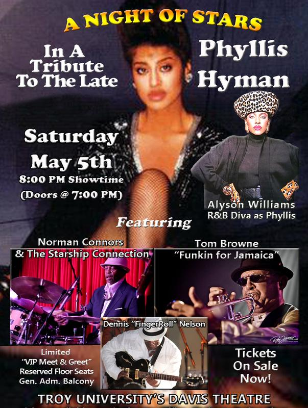 A Tribute To The Late Phyllis Hyman Feat: Alyson Williams, Norman Connors, Tom Browne & Dennis Nelson RESERVED SEATING