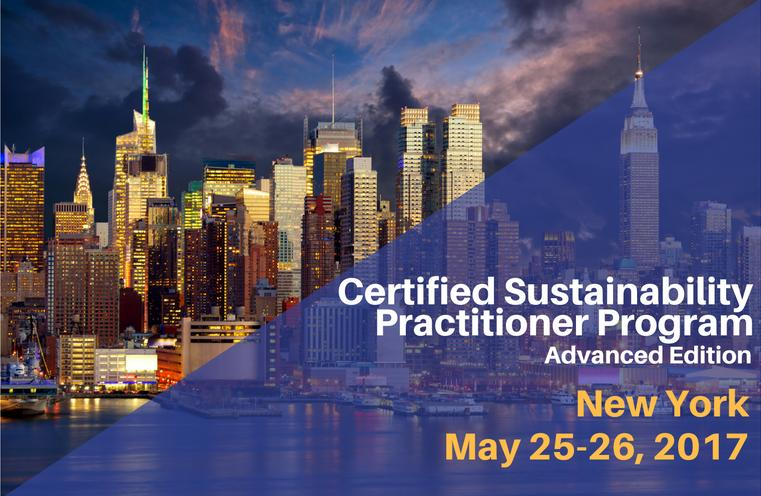 Advanced Certified Sustainability (CSR) Practitioner Training in New York