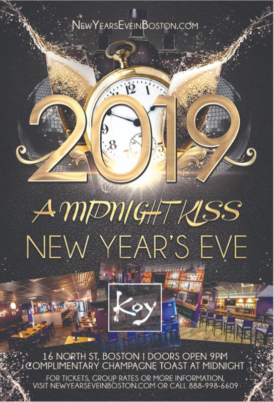"""""""A Midnight Kiss"""" New Year's Eve at Koy Boston [Faneuil Hall]"""