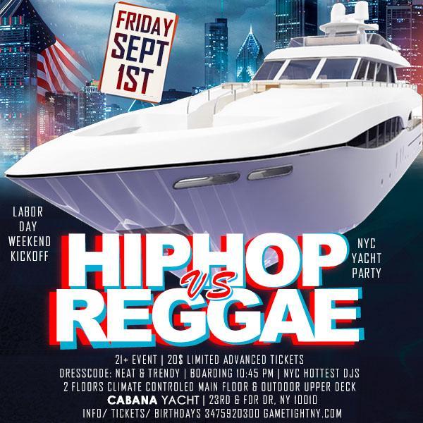 Hip Hop vs. Reggae LDW Cruise at Skyport Marina Cabana Yacht