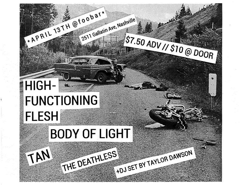 SLC Presents: High-Functioning Flesh & Body Of Light @ Foobar