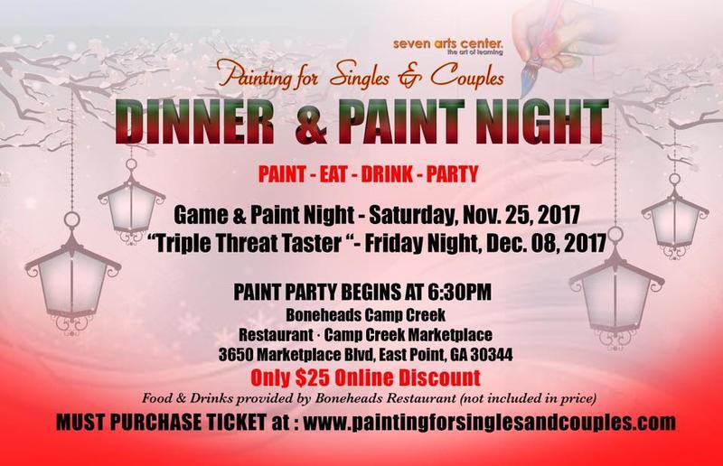 Friday and Saturday Eat & Paint Night at Restaurant Boneheads Camp Creek