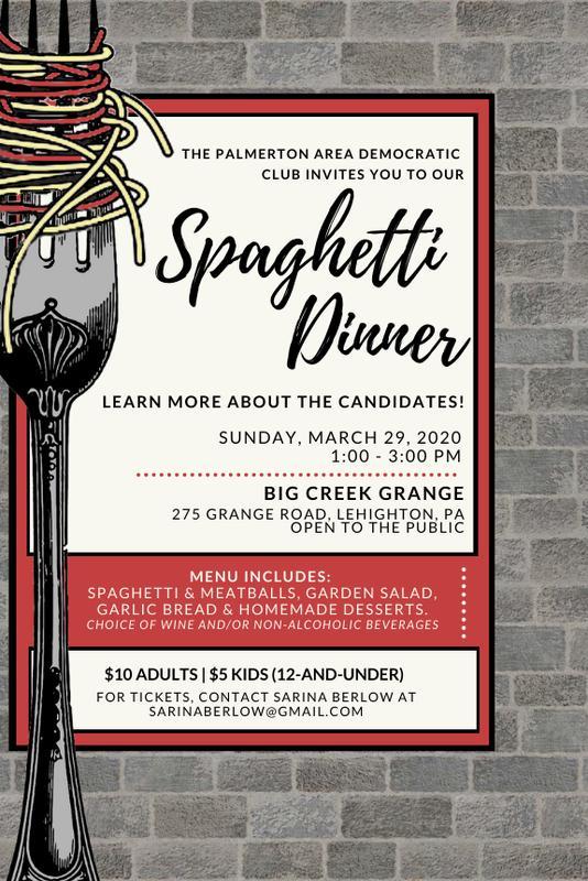 Palmerton Democrats Spaghetti Dinner