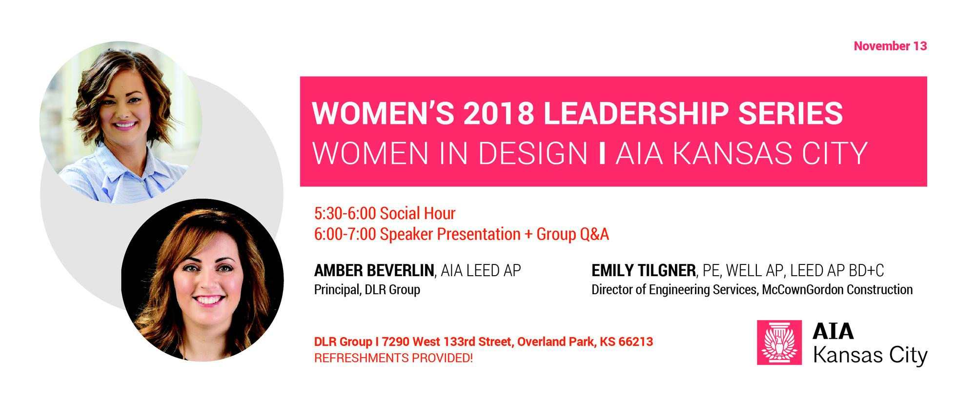 WiD: Women's Leadership Series: Amber Beverlin, AIA and Emily Tilgner, PE
