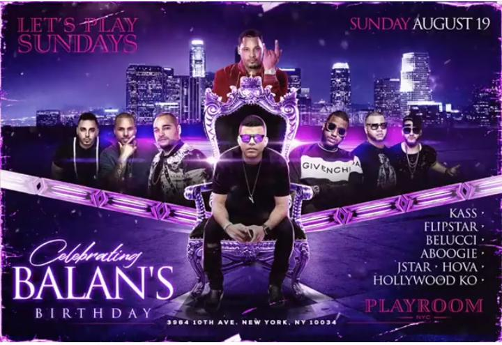 Let's Play Sundays DJ Kass Live at Playroom Lounge NYC
