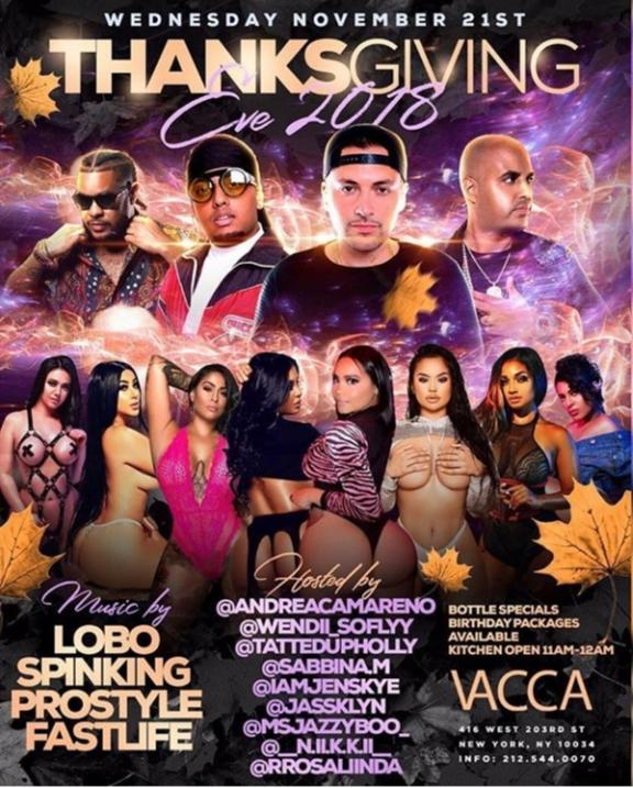 Thanksgiving Eve 2018 DJ Prostyle Live At Vacca Lounge