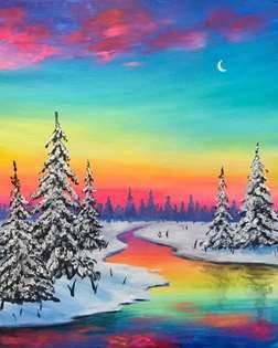 """""""River Sunrise"""" Paint and Pint at Timber Monster Brewing Company"""