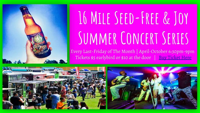 Seed-Free & Joy Summer Concert Series