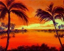 Modern Art: Lucky Oyster's Island Painting