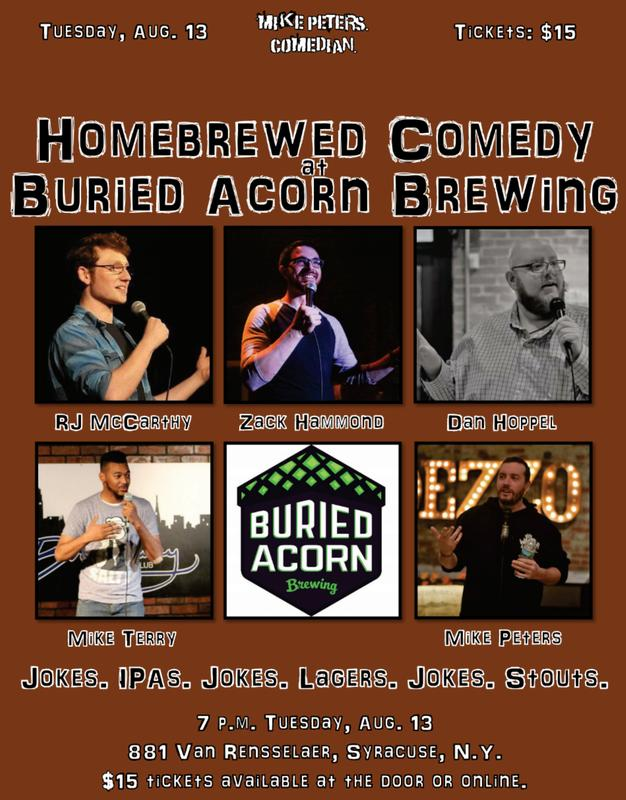 Homebrewed Comedy at Buried Acorn Brewing (Aug. 13)