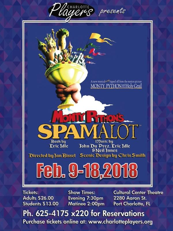 Monty Python's Spamalot book by Eric Idle and Music by John Du Prez, Eric Idle & Neil Innes : Presented by Charlotte Players