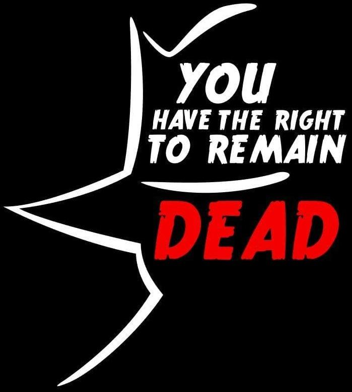 """""""You Have the Right to Remain Dead"""" by Pat Cook"""