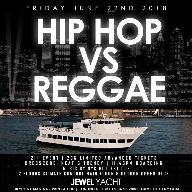 Manhattan Hip Hop vs. Reggae Party Cruise at Skyport Marina