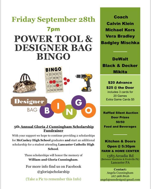 Power Tool/Designer Bag Bingo