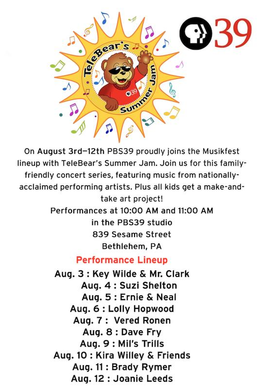 Key Wilde & Mr. Clarke @ TeleBear's Summer Jam -- Aug. 3 @ 10am