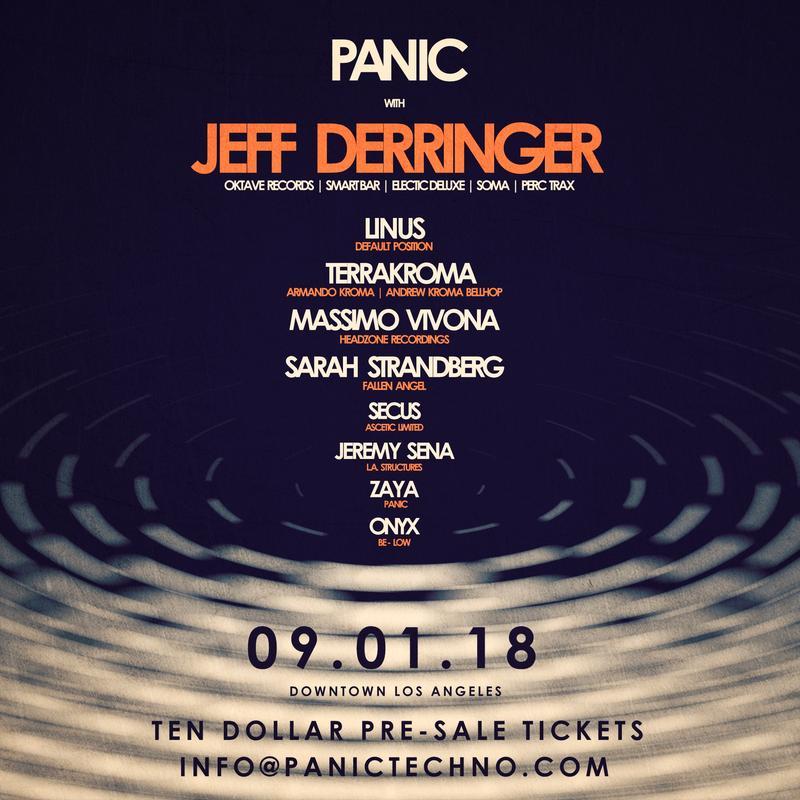 PANIC with Jeff Derringer - September 1st - DTLA